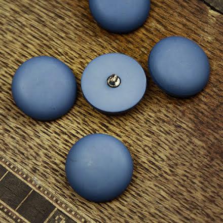 Matt Knapp 22mm - blå
