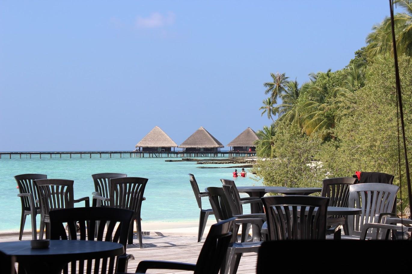 Мальдивы отель Adaaran Club Rannalhi вид из бара