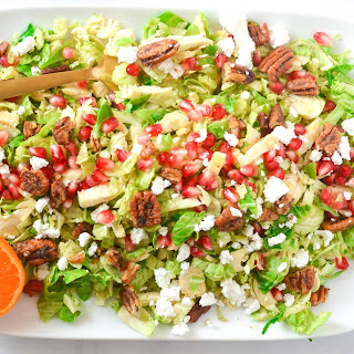 Brussels Sprout Salad With Pomegranates and Candied Pecans + Thanksgiving Roundup.