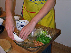 "Photo: plating ""miang kam"" filling ingredients"
