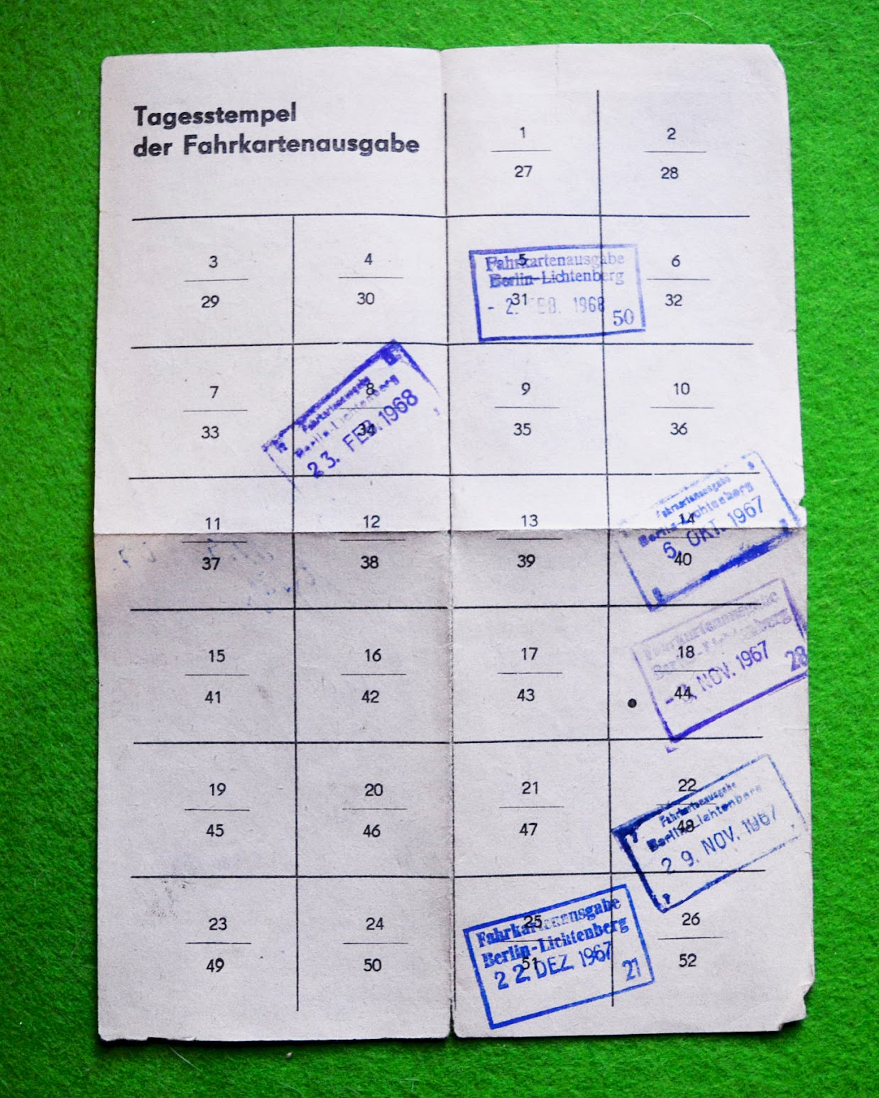 Arbeiterrückfahrkarte - DDR - 1967