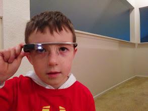 Photo: Clark Tries Google Glass