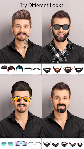 Man Photo Editor : Man Hair style ,mustache ,suit 1.11 screenshots 1