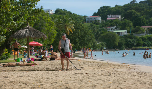 Le-Marin-beach.jpg - Prospecting along the beach in Le Marin, Martinique.