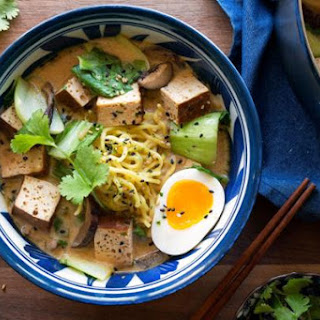 Miso Ramen Bowls with Braised Tofu and Bok Choy Recipe