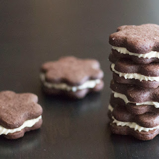 Chocolate Graham Cracker Cookie Sandwiches