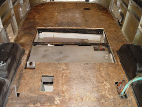 Photo: The 4' x 5' area of the floor that was removed