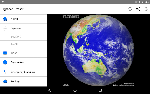 Typhoon Tracker screenshot for Android