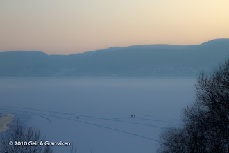 Photo: Ice fishing on the Drammensfjord