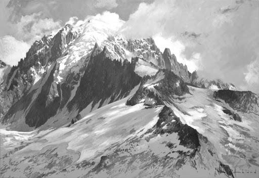 Verte du Rouge. oil on canvas, 110x160cm