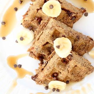 Chocolate Chip Banana Bread Oat Waffles, GF/V Recipe