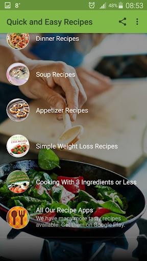 Quick and Easy Recipes 2.7 screenshots 2