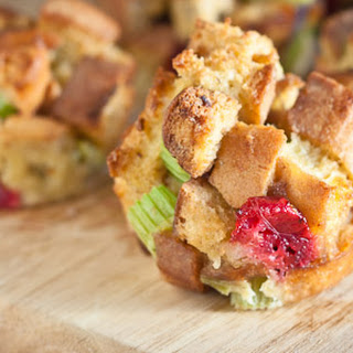 Stuffing Muffins With Celery, Cranberries And Sage.