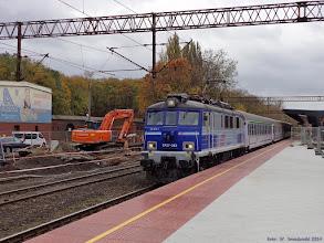 """Photo: EP07-383, TLK """"San"""" Bydgoszcz Główna - Przemyśl Główny {Toruń Główny; 2014-10-20}"""