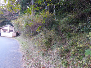 駐車場横の登山口