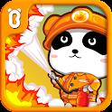 Kleiner Panda Feuerwehrmann