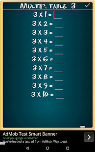 Multiplication Table FREE- screenshot thumbnail
