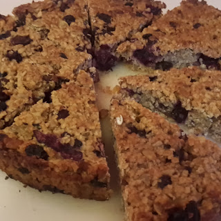 Banana And Blueberry Flapjacks.