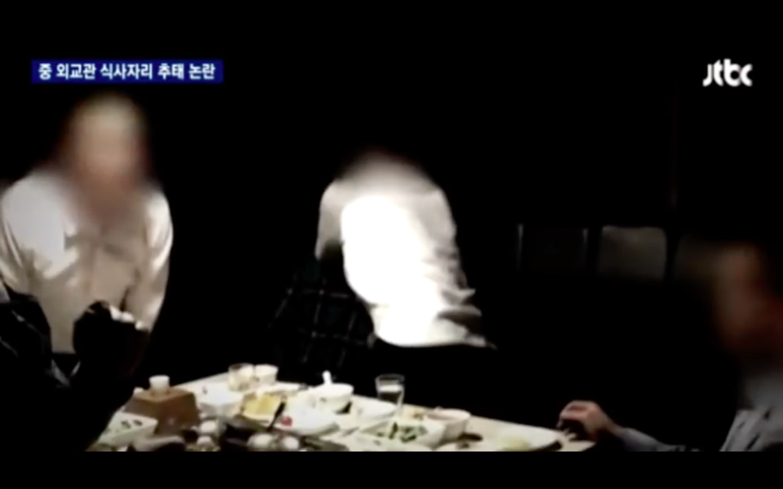 Heavily censored screenshots from video taken at the scene. (via JTBC)