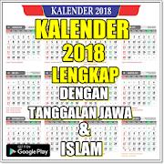 Kalender 2018 Lengkap Tanggalan Jawa & Islam