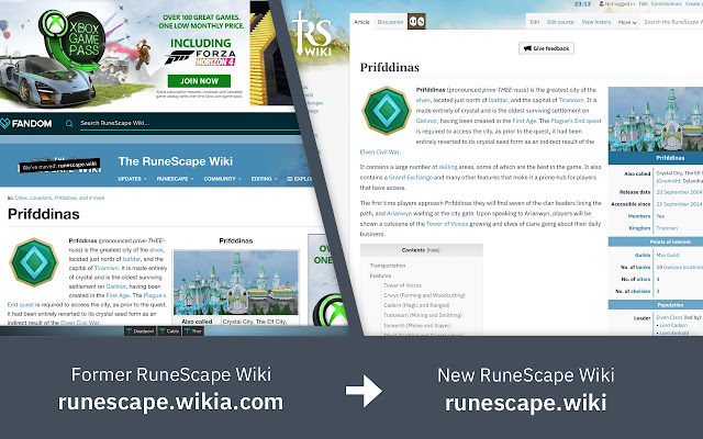 RS Wiki Redirector