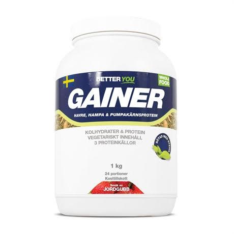 Better You Vegetarisk Gainer 1kg - Jordgubb
