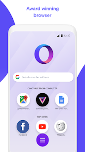 Opera Touch: the fast, new web browser Mod Apk v2.73 1