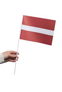Pappersflagga, Lettland