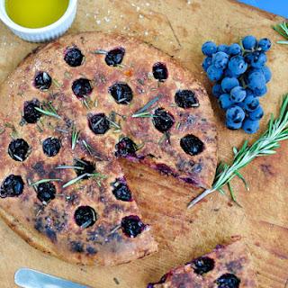 Concord Grape & Rosemary Focaccia – Schiacciata Con l'Uva