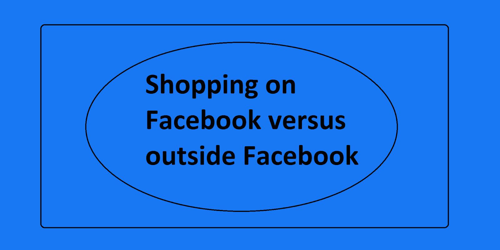 Shopping on Facebook versus outside Facebook