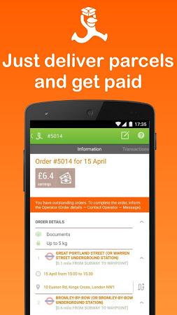Part-time couriers jobs London 1.9.4 screenshot 2087577