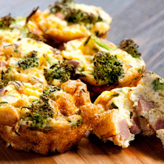 Mini Ham And Broccoli FrittatasRecipe