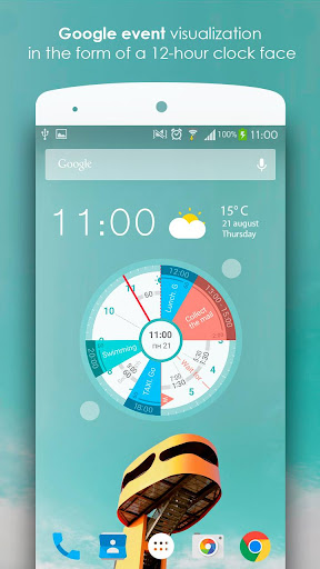 Sectograph. Planner & Time manager on clock widget 5.10.3 screenshots n 1
