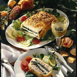 Salmon, Cod and Spinach Pie