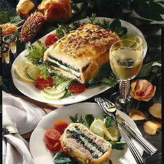 Salmon, Cod and Spinach Pie.