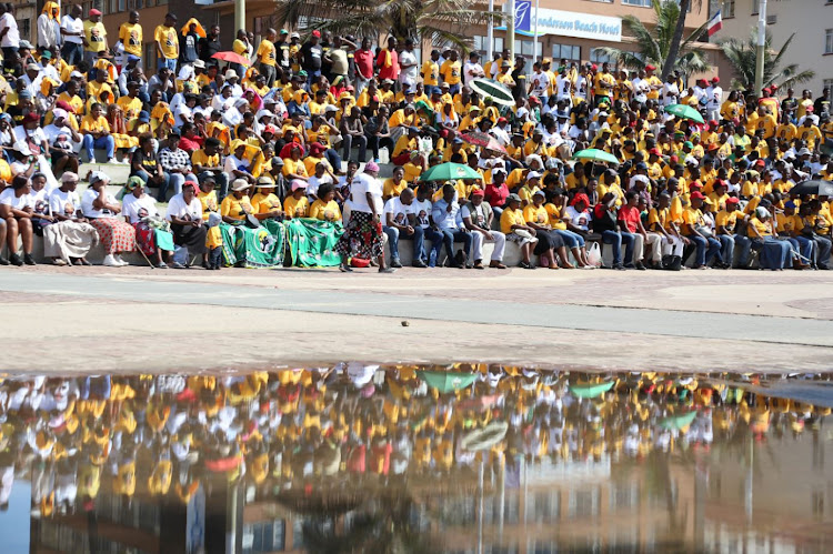 April 16 , 2018 Disgruntled ANC members who met at Durban's South Beach Amphitheatre on Monday to air their grievances about the ANC
