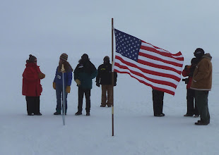 Photo: Old marker being left behind, but not Old Glory.