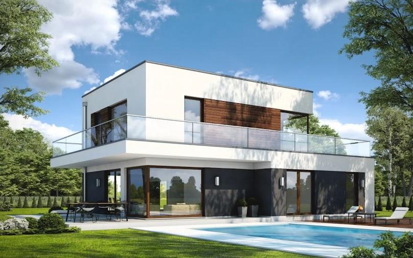 Piętrowy projekt domu jednorodzinnego
