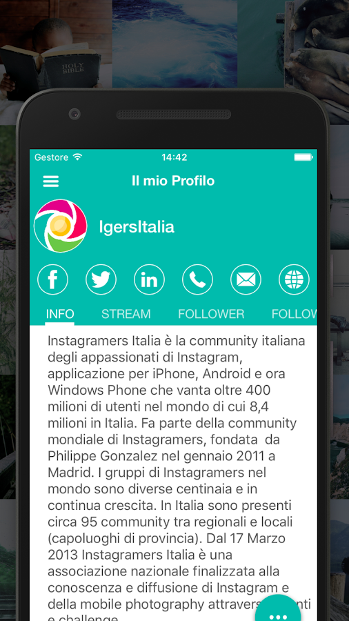 Igersitalia- screenshot