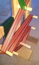 Photo: -- New warp in time to weave on Thanksgiving