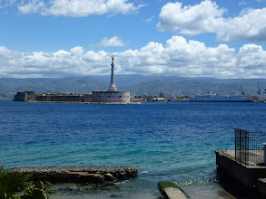 Photo: at the mouth of Messina harbor