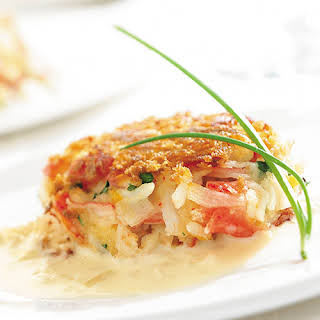 Crusty Crab Cakes with Lemon-Butter Sauce.