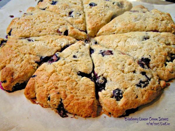 Blueberry Lemon Cream Scones Recipe