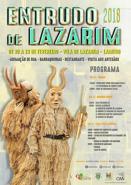 Programa – Entrudo de Lazarim – 10 a 13 de Fevereiro de 2018 – Lamego