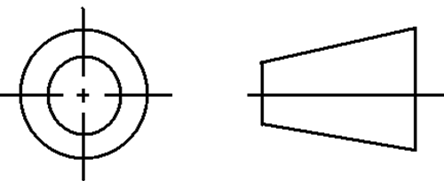 Symbol for Third Angle Projection
