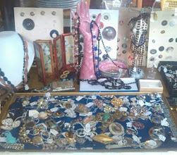 Photo: A smorgasbord of old brooches & jewellery in amongst the dealer stands at Excellente on North st.