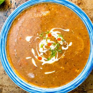 Sopa Tarasca (Pinto Bean Soup).