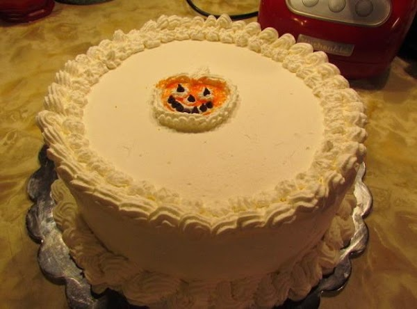 After all is stacked up decorate it like you would a cake!  ENJOY!