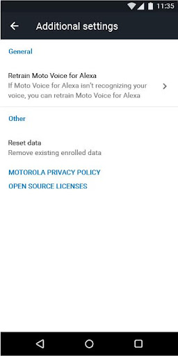 Moto Voice for Alexa - screenshot