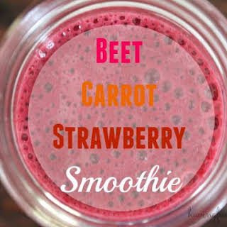 Beet Carrot Strawberry Smoothie.